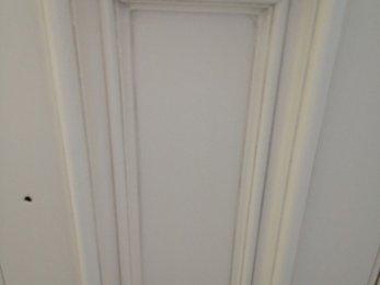 White panels with grey glaze