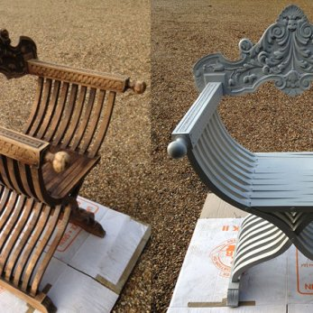 Ornate chair restoration