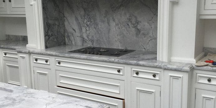 White Hand Painted Kitchen